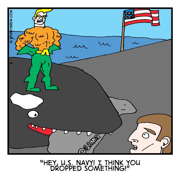 Aquaman Cleans Up - webcomic strip