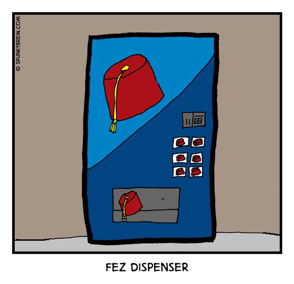 Fez Dispenser - webcomic strip