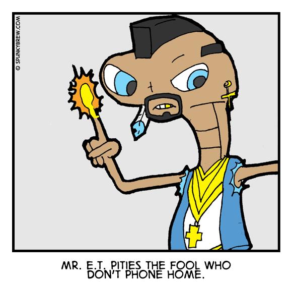 Mr. E. T. - webcomic strip